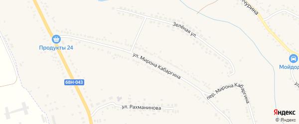 Улица Мирона Кабаргина на карте Уварово с номерами домов