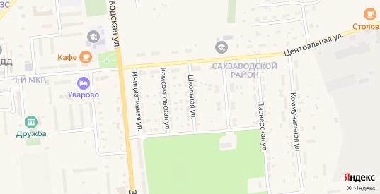 Школьная улица в Уварово с номерами домов на карте. Спутник и схема онлайн
