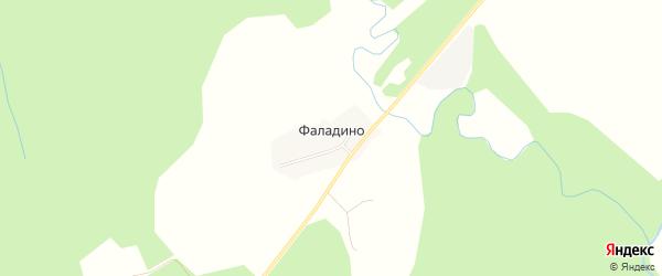 Карта деревни Фаладино в Костромской области с улицами и номерами домов