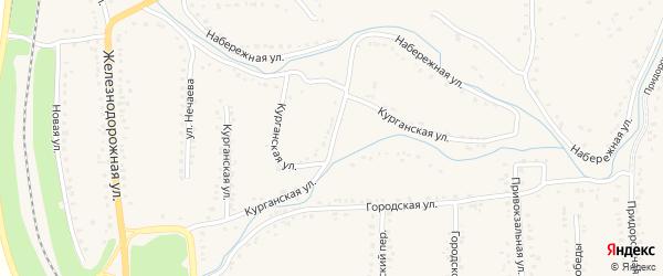 Курганская улица на карте Уварово с номерами домов
