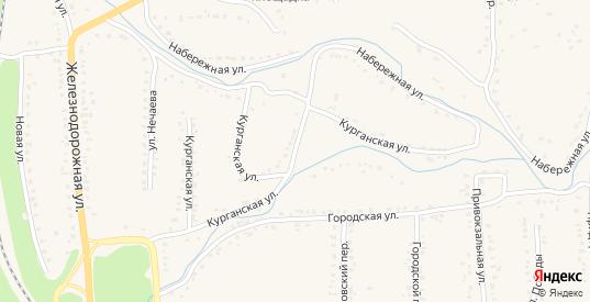 Курганская улица в Уварово с номерами домов на карте. Спутник и схема онлайн