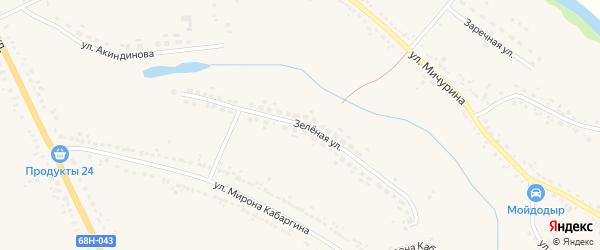 Зеленая улица на карте Уварово с номерами домов