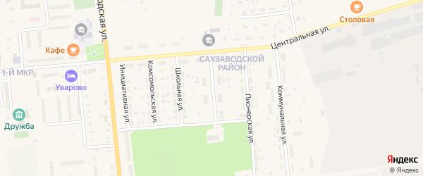 Улица 40 лет Октября на карте Уварово с номерами домов
