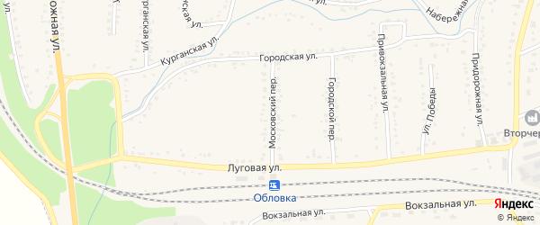 Московский переулок на карте Уварово с номерами домов