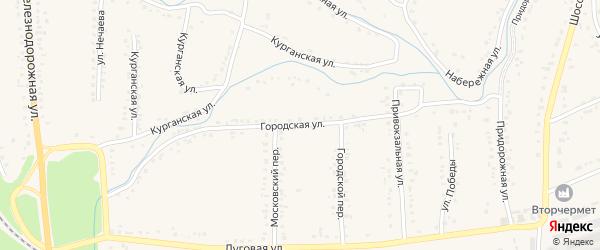 Городская улица на карте Уварово с номерами домов