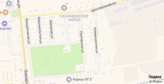 Пионерская улица в Уварово с номерами домов на карте. Спутник и схема онлайн