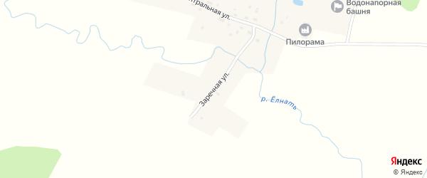 Заречная улица на карте деревни Вахуток Ивановской области с номерами домов