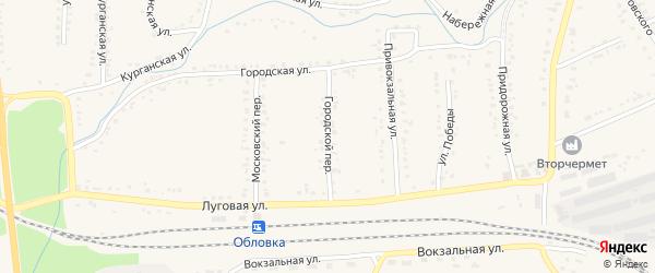 Городской переулок на карте Уварово с номерами домов