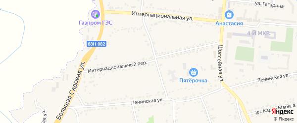 Интернациональный переулок на карте Уварово с номерами домов