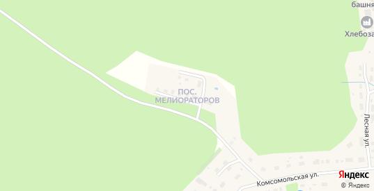 Поселок Мелиораторов в Солигаличе с номерами домов на карте. Спутник и схема онлайн
