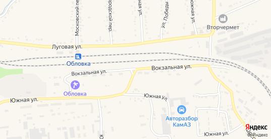 Вокзальная улица в Уварово с номерами домов на карте. Спутник и схема онлайн