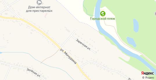 Заречная улица в Уварово с номерами домов на карте. Спутник и схема онлайн