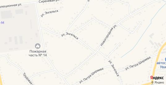 Улица Энгельса в Уварово с номерами домов на карте. Спутник и схема онлайн