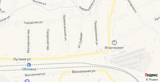 Улица Победы в Уварово с номерами домов на карте. Спутник и схема онлайн