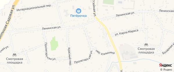 Переулок Калинина на карте Уварово с номерами домов