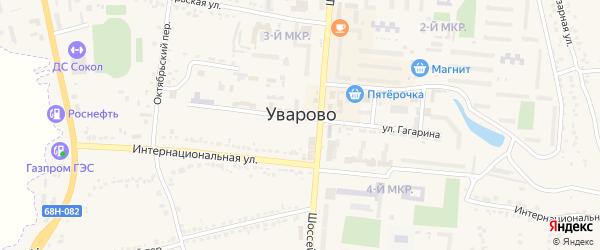 Микрорайон Молодежный-5 на карте Уварово с номерами домов