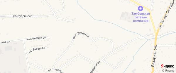 Переулок Энгельса на карте Уварово с номерами домов