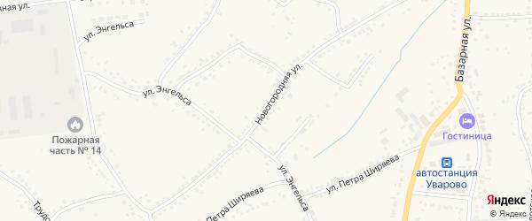 Новогородняя улица на карте Уварово с номерами домов