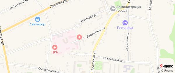Больничная улица на карте Уварово с номерами домов