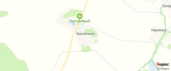 Карта деревни Кислячихи в Ивановской области с улицами и номерами домов