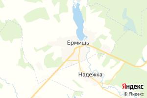 Карта пгт Ермишь Рязанская область