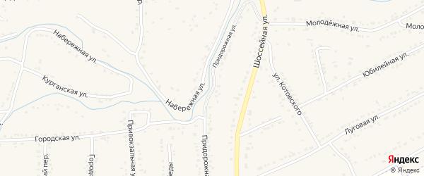 Придорожная улица на карте Уварово с номерами домов