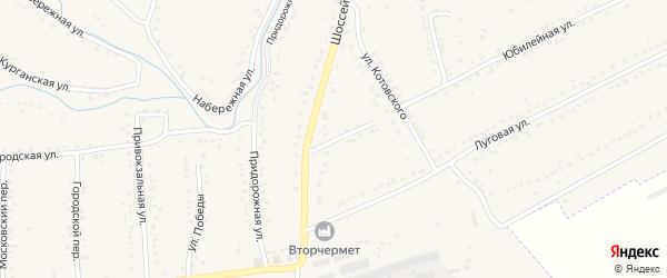 Переулок Котовского на карте Уварово с номерами домов