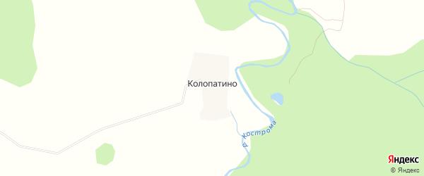 Карта деревни Колопатино в Костромской области с улицами и номерами домов