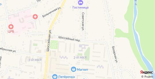 Шоссейный переулок в Уварово с номерами домов на карте. Спутник и схема онлайн