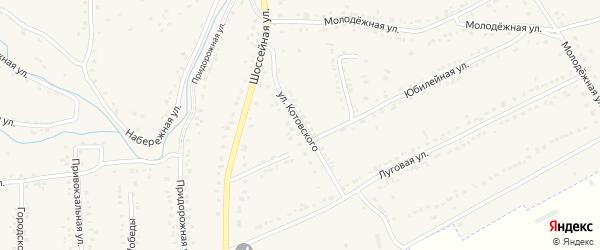 Улица Котовского на карте Уварово с номерами домов