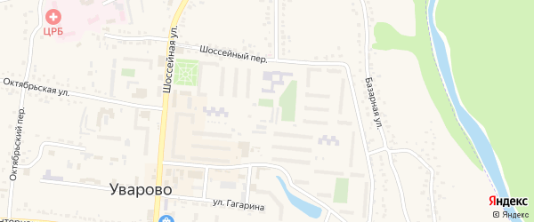 Микрорайон 2 на карте Уварово с номерами домов