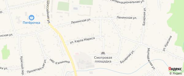 Улица Карла Маркса на карте Уварово с номерами домов