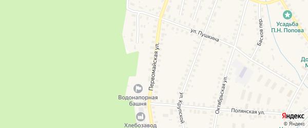 Первомайская улица на карте Солигалича с номерами домов