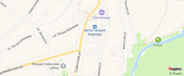Базарный переулок на карте Уварово с номерами домов