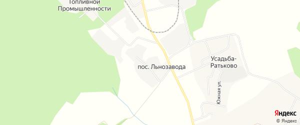 Карта поселка Льнозавода в Костромской области с улицами и номерами домов