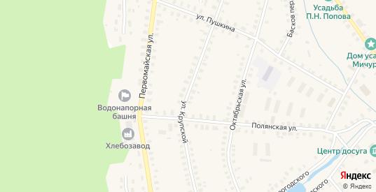 Улица Крупской в Солигаличе с номерами домов на карте. Спутник и схема онлайн