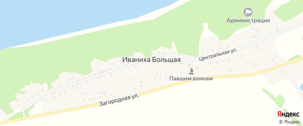 Библиотечный проулок на карте Иваниха Большей деревни Ивановской области с номерами домов