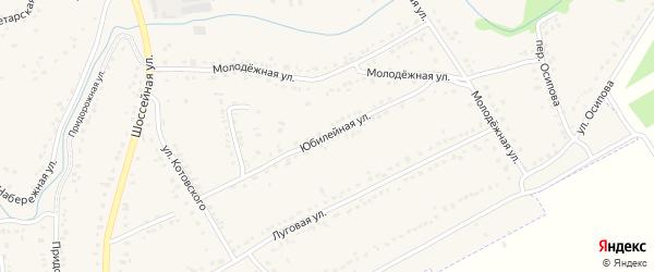 Юбилейная улица на карте Уварово с номерами домов