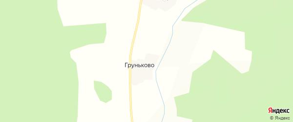 Карта деревни Груньково в Костромской области с улицами и номерами домов
