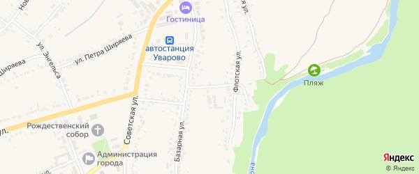 Флотский переулок на карте Уварово с номерами домов
