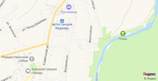 Флотский переулок в Уварово с номерами домов на карте. Спутник и схема онлайн