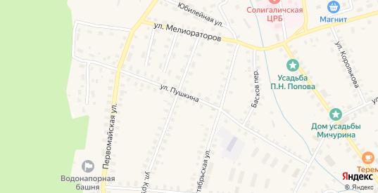 Улица Пушкина в Солигаличе с номерами домов на карте. Спутник и схема онлайн