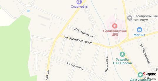 Улица Мелиораторов в Солигаличе с номерами домов на карте. Спутник и схема онлайн