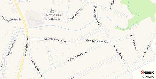 Молодежная улица в Уварово с номерами домов на карте. Спутник и схема онлайн