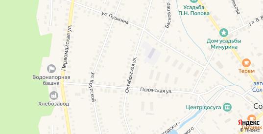 Октябрьская улица в Солигаличе с номерами домов на карте. Спутник и схема онлайн