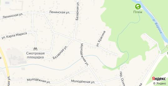 Улица Красина в Уварово с номерами домов на карте. Спутник и схема онлайн