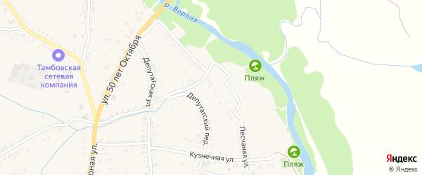 Песчаная улица на карте Уварово с номерами домов