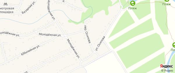 Переулок Осипова на карте Уварово с номерами домов