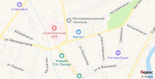 Красноармейская улица в Солигаличе с номерами домов на карте. Спутник и схема онлайн