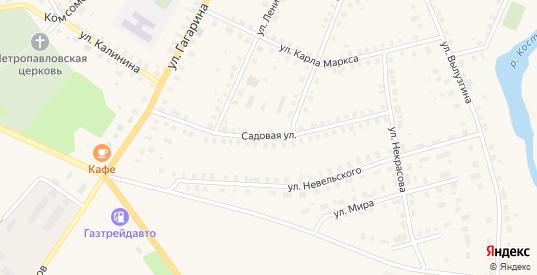 Садовая улица в Солигаличе с номерами домов на карте. Спутник и схема онлайн
